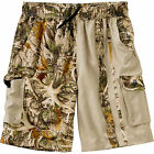 Legendary Whitetails Whitewater Two-Tone Legends Camo Swim Trunks, Tan