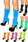 3x Womens Pairs Party LEGWARMERS Knitted Neon Knit Dance 80s Costume Leg Warmers