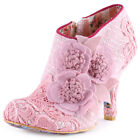 Irregular Choice Cheeky Moose Womens Fabric Pink Heels New Shoes All Sizes