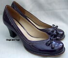 NEW CLARKS HANDCRAFTED BOMBAY LIGHTS PURPLE PATENT LEATHER SHOES SIZE 5 / 38