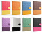 New Luxury Mix-Color Grid Leather Smart Stand Case Cover For Apple iPad Tablet
