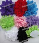 20pcs 8color pick floral 5inch chiffon cabbage corsage Sewing flower Appliques