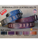 Custom Western Leather Belts - Best Belts for Men - Name Belts with script font