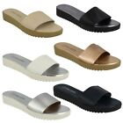 LADIES LEATHER COLLECTION SLIP ON MULES WOMENS SUMMER SANDAL F10330