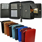 Wallet with wrap-around Zip Secret compartment fine Cattle leather Portemonnaie