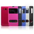 Windows Leather Case Flip Cover For Samsung Galaxy Grand Prime G530 Special
