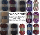 Woolcraft SUPERWASH SOCK YARN.100g ball.4 ply