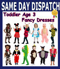 NEW TODDLERS FANCY DRESS COSTUMES. AGE 3. MANY STYLES BOYS GIRLS DRESSING UP