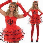 Deluxe Ladies Sexy Devil Tutu Fancy Dress Costume