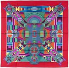 NEW Authentic Hermes ART INDIEN DES PLAINES Silk Scarf Sophie KOECHLIN Red