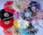 10pcs 15color pick Chiffon millinery headband flower corsage Sewing Applique 4In