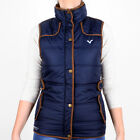 New Womens Designer Voi Jeans Ladies Gilet Quilted Coat Jacket Peon Navy