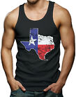 Distressed Texas Map - State Pride Men's Tank Top T-shirt