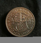 KEY DATE SCARCE 1930 HALF CROWN. GREAT GRADE. FREE POSTAGE FOR THE UK