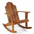 Weather-Resistant Adirondack Rocker Chair