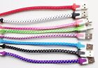 """8"""" SHORT FLAT BRAIDED CHARGER CABLE Data FOR iPhone X 8 7 6 plus 5 5S ipod nano"""