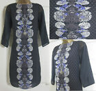 NEW EX WHITE STUFF SHIFT TUNIC PARTY OFFICE DRESS FLORAL BLACK PURPLE SIZE 8-18