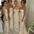 Nude Sexy Formal Party Evening Dress Prom Bridesmaid Dresses Size6 8 10 12 14 16