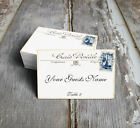 VINTAGE STYLE FRENCH POSTCARD WEDDING PLACE CARDS, TAGS or ESCORT CARDS #150