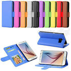Luxury Flat Leather Flip Stand Wallet Case Card Photo Cover For Samsung Galaxy