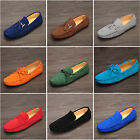 Suede Leather Mens slip on loafers penny  tassel  tie drivers moc shoes car shoe