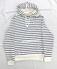 NEW LEVIS CREAM & NAVY STRIPE LIGHTWEIGHT PULL OVER HOODED TOP