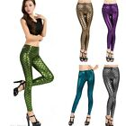 G New Chic Women Stretch Fish Scale Mermaid Sexy Leggings Skinny Pants Trousers