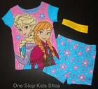 FROZEN Girls 2T 3T 4T 5T Pjs Set PAJAMAS Shirt Shorts DISNEY Anna Elsa