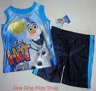 OLAF The Snowman Toddler Boys 2T 3T 4T 5T Set OUTFIT Shirt Shorts FROZEN Disney