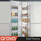Half Pantry Unit Wire Basket Shelf Slide Out Pull Storage Kitchen 450mm 500mm