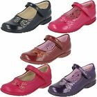 Girls Clarks Velcro Shoes with Flashing Lights Trixi Dazzle