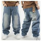 New Mens Ecko Unltd Baggy Loose Denim Stonewashed Jeans Hip-Hop Streetwear Pants