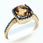 14kt Gold Citrine and Diamond Ring 1Y51MLS