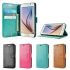 Premium Card Wallet Flip Case Leather Cover for Samsung Galaxy S6
