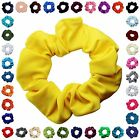Soft & Silky Hair Scrunchies Many Colors 3 Sizes Mini Standa