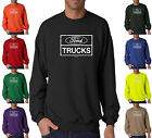 Ford Trucks Build Ford Tough Distressed Mustang Crewneck Sweatshirt S-3XL
