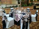 """15 Tissue Lame 60""""x60 Square Table Overlays Made USA Overlay for Tablecloths"""