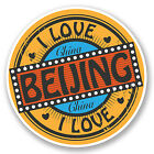 2 x Beijing China Vinyl Decal Sticker Luggage Travel Tag Label Asia Gift #5522