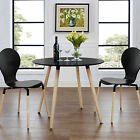 Contemporary Circular Wood Dining Table | Available in Black or White