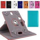 Folio 360� Leather Case Cover For Universal Android Tablet PC 7 8 9 10 10.1