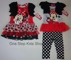 MINNIE MOUSE Girl 2T 3T 4T 4 5 6 6X Set DRESS or OUTFIT Shirt Pants Skirt Disney