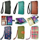 For Samsung Galaxy Note 4 Strap Cover Stand ID Card Wallet Leather Case