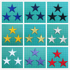 "Lot of 3 Multi-color 1 5/8"" Star 100% Fully Embroidered Iron On Applique Patches"