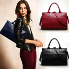 Fashion Women Genuine Leather Handbag Shoulder Bag Large Tote Satchel Gut