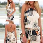 2015 Sexy Ladies Floral Chiffon Playsuit Bodycon Party Jumpsuit Romper