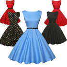 Grace Karin 50's 60s Vintage Style ROCKABILLY Swing Pinup Housewife Summer Dress