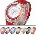 1pc Golden Crystal Quartz Analog Elegant Girl Womens Wrist Band Watch Wristwatch