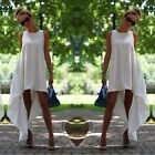 Womens Casual Maxi Long Ball Gown Asymmetric Party Cocktail Sexy Beach Dress