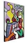 PABLO PICASSO PAINTING GREAT STILL LIFE ON PEDESTAL FRAMED CANVAS PRINT WALL ART