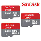 16GB/32GB/64GB Sandisk MicroSD SDHC Ultra TF Memory Card Class10 SDSDQUA Genuine